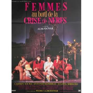 FEMMES AU BORD DE LA CRISE DE NERFS Affiche de film - 120x160 cm. - 1988 - Carmen Maura, Pedro Almodóvar