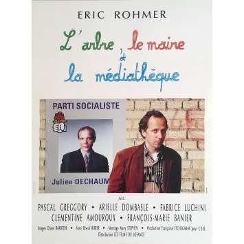 L'ARBRE LE MAIRE LA MEDIATHEQUE Affiche de film - 40x60 cm. - 1993 - Fabrice Luchini, Éric Rohmer