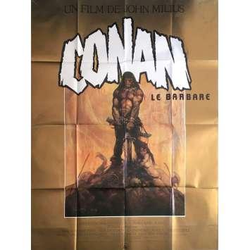 CONAN LE BARBARE Affiche de film - 120x160 cm. - 1982 - Arnold Schwarzenegger, John Milius