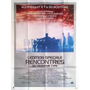 RENCONTRES DU TROISIEME TYPE Affiche de film - 120x160 cm. - R1980 - Richard Dreyfuss, Steven Spielberg