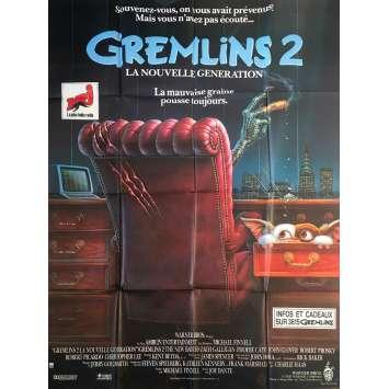 GREMLINS 2 Original Movie Poster - 47x63 in. - 1990 - Joe Dante, Zach Galligan