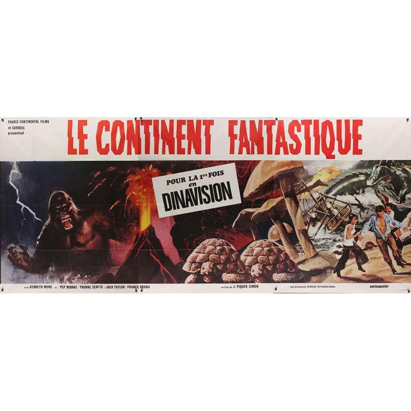 LE CONTINENT FANTASTIQUE Affiche de film - 150x350 - 1977 - Kenneth More, Juan Piquer Simón