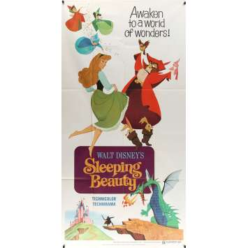 SLEEPING BEAUTY Original Movie Poster - 41x81 in. - R1970 - Walt Disney, Mary Costa