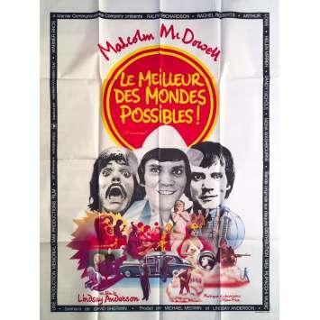 LE MEILLEUR DES MONDES POSSIBLES Affiche de film - 120x160 cm. - 1973 - Malcom McDowell, Lindsay Anderson