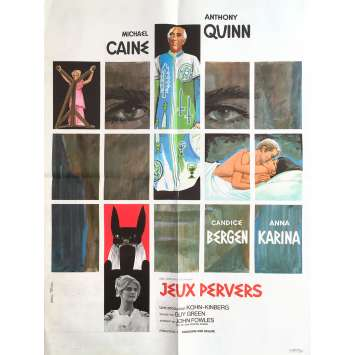 JEUX PERVERS Affiche de film - 60x80 cm. - 1968 - Anthony Quinn, Guy Greene