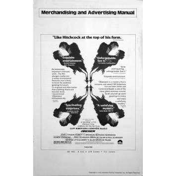 OBSESSION pressbook '76 Brian De Palma, Paul Schrader, Genevieve Bujold, Cliff Robertson