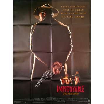 UNFORGIVEN Movie Poster 47x63 in. French - 1992 - Clint Eastwood, Gene Hackman