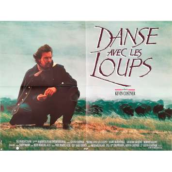 DANCE WITH WOLVES Original Movie Poster - 23x32 in. - 1990 - Kevin Costner, Mary McDowell