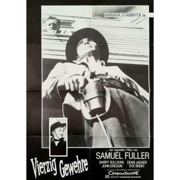 QUARANTE TUEURS Affiche de film - 59x84 cm. - 1957 - Barbara Stanwyck, Samuel Fuller