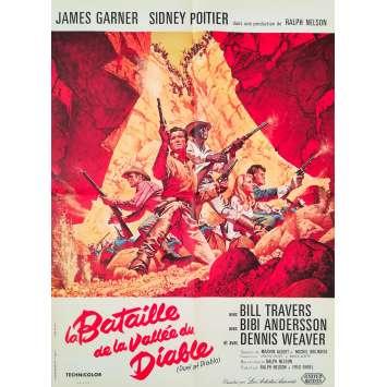 LA BATAILLE DE LA VALLEE DU DIABLE Affiche de film - 60x80 cm. - 1966 - James Garner, Ralph Nelson