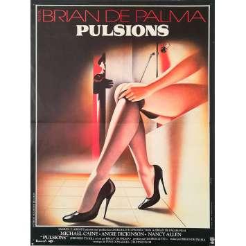 DRESSED TO KILL Original Movie Poster - 15x21 in. - 1980 - Brian de Palma, Michael Caine