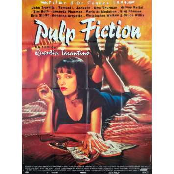 PULP FICTION Affiche de film - 120x160 cm. - 1994 - Uma Thurman, Quentin Tarantino