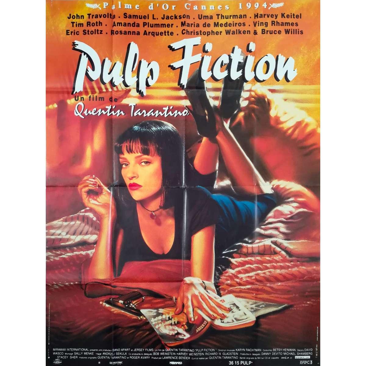 PULP FICTION Rare Original Movie Poster   20x20 in.   20   Quentin  Tarantino