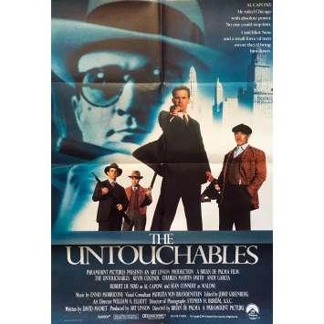 LES INCORRUPTIBLES Affiche de film anglaise - 69x102 cm. - 1987 - Kevin Costner, Brian de Palma