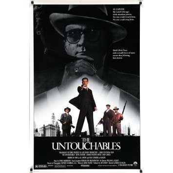 LES INCORRUPTIBLES Affiche de film américaine - 69x104 cm. - 1987 - Kevin Costner, Brian de Palma