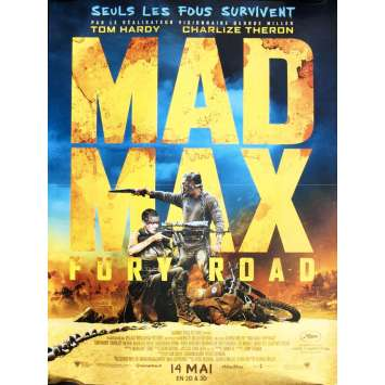 MAD MAX FURY ROAD French Movie Poster - 15x21 - 2015 - Tom Hardy