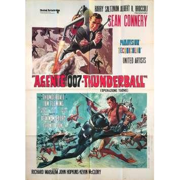 THUNDERBALL Original Movie Poster - 39x55 in. - 1965 - James Bond, Sean Connery