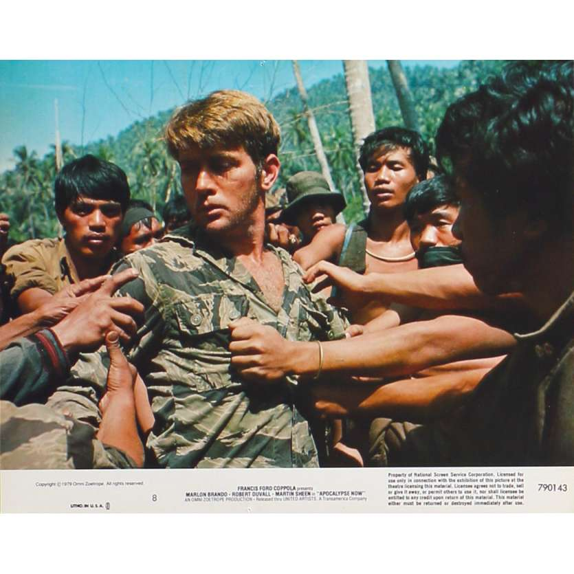 APOCALYPSE NOW Photo de film américaine N8 - 20x25 cm. - 1979 - Marlon Brando, Francis Ford Coppola
