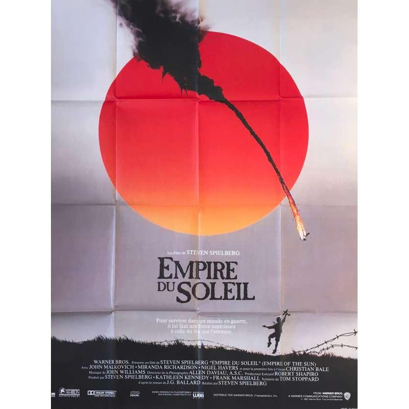L'EMPIRE DU SOLEIL Affiche de film française - 120x160 cm. - 1987 - Christian Bale, Steven Spielberg
