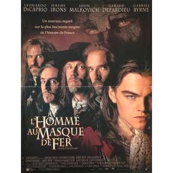 L'HOMME AU MASQUE DE FER Affiche de film française - 40x60 cm. - 1998 - Leonardo DiCaprio, Randall Wallace