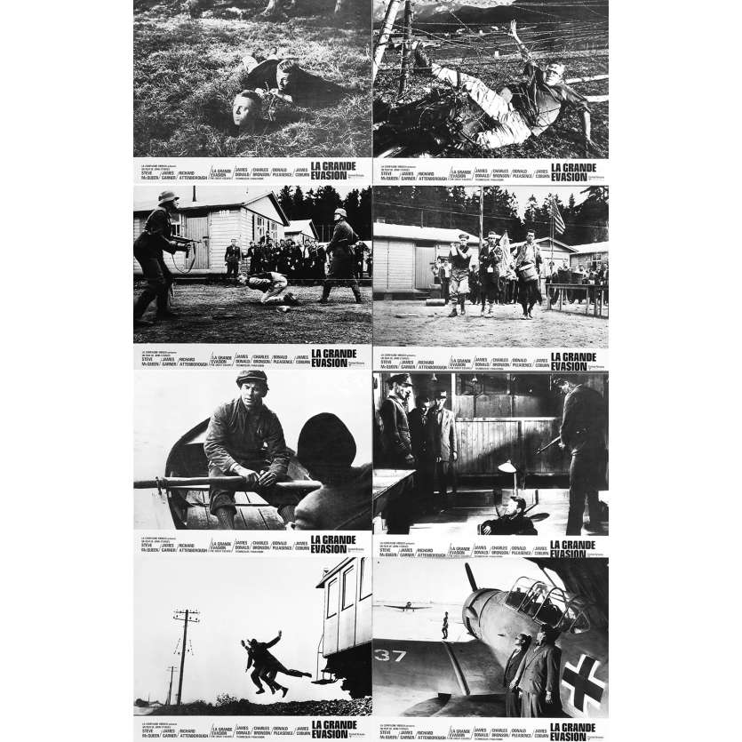LA GRANDE EVASION Photos de film françaises N6 - 21x30 cm. - 1963 - Steve McQueen, John Sturges