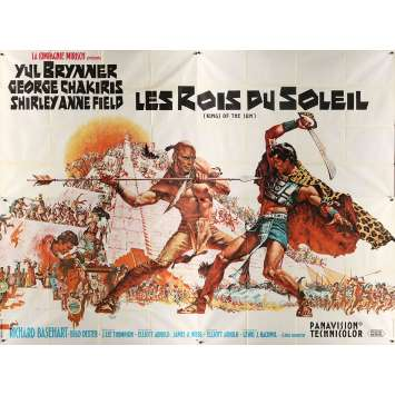 KINGS OF THE SUN Original Movie Poster - 94x126 in. - 1963 - J. Lee Thompson, Yul Brynner