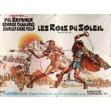 LES ROIS DU SOLEIL Affiche de film française - 240x320 cm. - 1963 - Yul Brynner, J. Lee Thompson