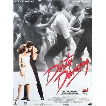 DIRTY DANCING Affiche de film française - 40x60 cm. - R2000 - Patrick Swayze, Emile Ardolino