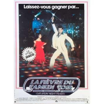 SATURDAY NIGHT FEVER Original Movie Poster - 15x21 in. - R1990 - John Badham, John Travolta