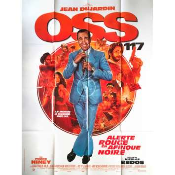 OSS 117 ALERTE ROUGE EN AFRIQUE NOIRE Original Movie Poster - 47x63 in. - 2021 - Nicolas Bedos, Jean Dujardin