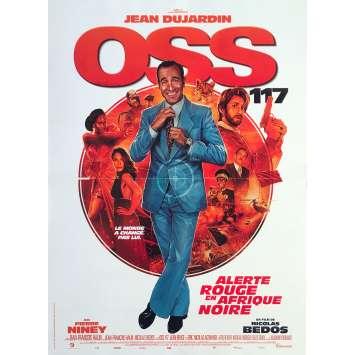 OSS 117 ALERTE ROUGE EN AFRIQUE NOIRE Original Movie Poster - 15x21 in. - 2021 - Nicolas Bedos, Jean Dujardin
