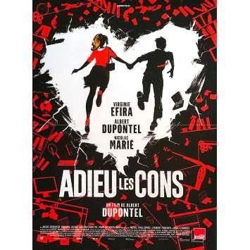 BYE BYE MORONS Original Movie Poster - 15x21 in. - 2020 - Albert Dupontel, Terry Gilliam, Virginie Efira