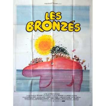 LES BRONZES Affiche de film - 120x160 cm. - 1978 - Le Splendid, Patrice Leconte