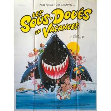 LES SOUS-DOUES EN VACANCES Affiche de film - 120x160 cm. - 1982 - Daniel Auteuil, Guy Marchand, Claude Zidi