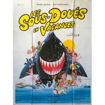 LES SOUS-DOUES EN VACANCES Original Movie Poster - 47x63 in. - 1982 - Claude Zidi, Daniel Auteuil, Guy Marchand
