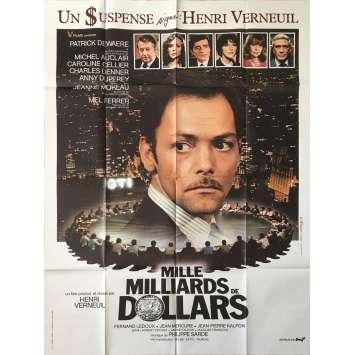 MILLE MILLIARDS DE DOLLARS Original Movie Poster - 47x63 in. - 1982 - Henri Verneuil, Patrick Dewaere