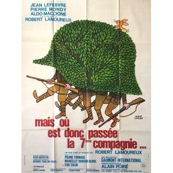MAIS OU EST DONC PASSEE LA 7EME COMPAGNIE Affiche de film - 120x160 cm. - 1973