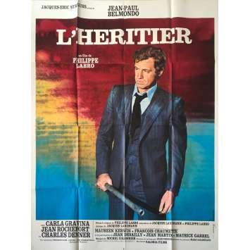THE INHERITOR Original Movie Poster - 47x63 in. - 1973 - Philippe Labro, Jean-Paul Belmondo