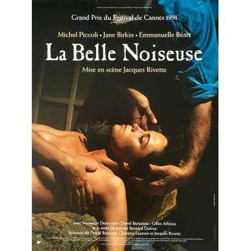 LA BELLE NOISEUSE Original Movie Poster - 15x21 in. - 1991 - Jacques Rivette, Emmanuelle Beart