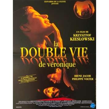 THE DOUBLE LIFE OF VERONIQUE Movie Poster 15x21 in. French - 1991 - Krzysztof Kieslowski, Irène Jacob