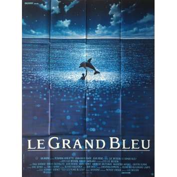 BIG BLUE French Movie Poster 47x63 '88 Luc Besson, jean Reno