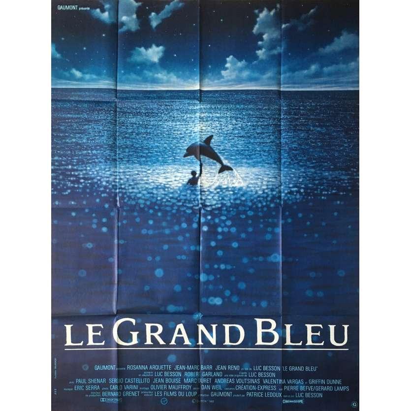 LE GRAND BLEU Affiche Originale 120x160 - 1988 Luc Besson, jean Reno Movie Poster