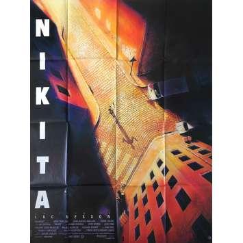 NIKITA Affiche de film 120x160 - 1990 - Anne Parillaud, Luc Besson