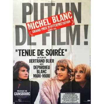 TENUE DE SOIREE Affiche de film - 120x160 cm. - 1986 - Gérard Depardieu, Bertrand Tavernier
