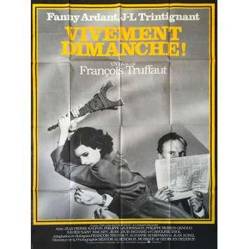 VIVEMENT DIMANCHE French movie poster 47x63 '83, François Truffaut , Trintignant Movie Poster