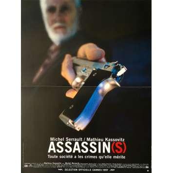 ASSASSIN(S) Original Movie Poster - 15x21 in. - 1997 - Mathieu Kassovitz, Michel Serrault