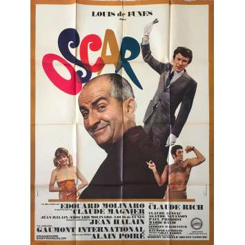 OSCAR Original Movie Poster - 47x63 in. - 1967 - Edouard Molinaro, Louis de Funès