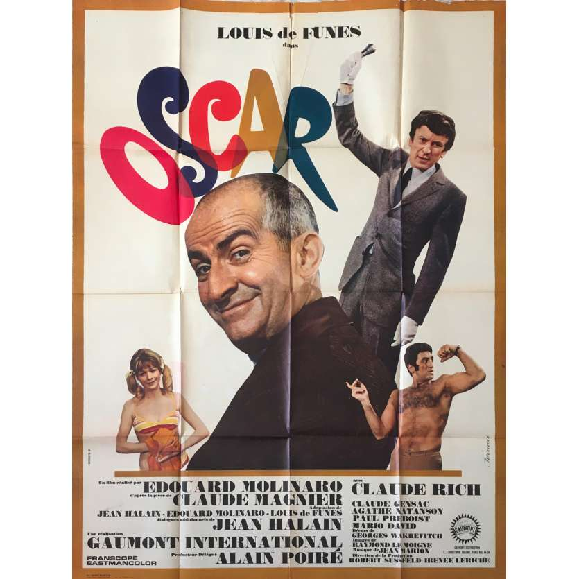 OSCAR Affiche de film - 120x160 cm. - 1967 - Louis de Funès, Edouard Molinaro