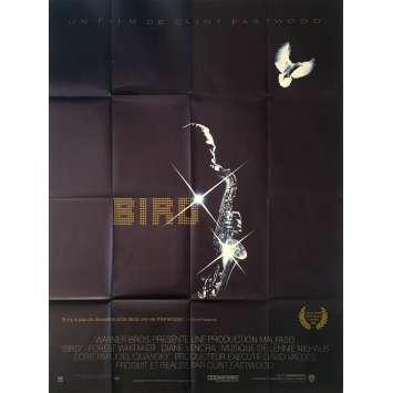 BIRD Affiche de film - 120x160 cm. - 1988 - Forrest Whitaker, Clint Eastwood