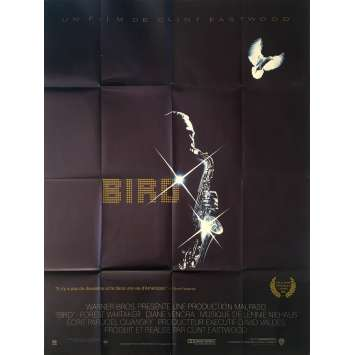 BIRD Original Movie Poster 0 - 47x63 in. - 1988 - Clint Eastwood, Forrest Whitaker